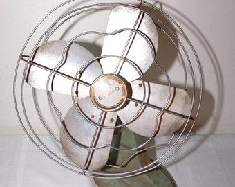 Vintage ESKIMO Electric Fan Light Blue Bottom