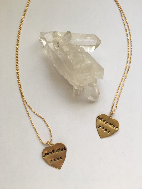 His & hers necklaces Champagne Mami and Champagne Papi ~ DRAKE