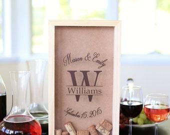 Personalized Wine Cork Keeper Custom Wedding Gift Rustic Barn Wedding Bridal Shower Present (Item Number NVMHDA1221)