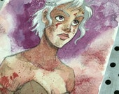 "Small Original ""If I Look Back I Am Lost"" Daenerys Watercolor Painting"