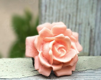 Big Peach Rose Ring