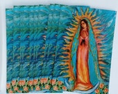 A Dozen Postcards - Our Lady of Guadalupe - Virgen de Guadalupe - Religious Art - Catholic