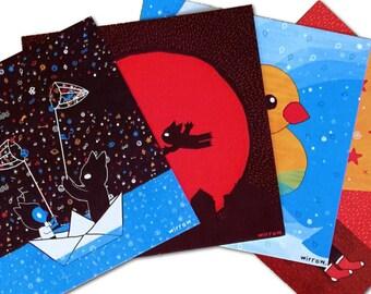 Mini 'Wulfi & Wraa' Art Prints