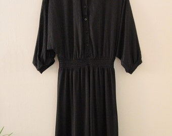 80's Black Sheer Dress