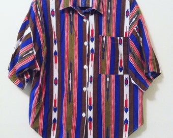 80's Southwestern Button Up