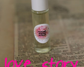 LOVE STORY PERFUME Oil Roll On - 7ml Glass Roll On Bottle,  Paraban and Phthalate Free, Vegan Perfume - Smells like Love Spell Type