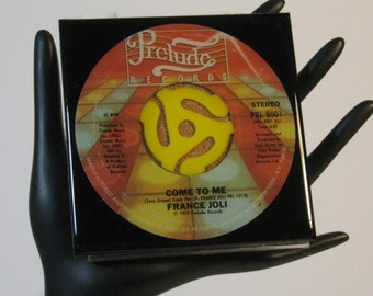 France Joli - Very Groovy Drink Coaster Made with The Original 45 rpm Record