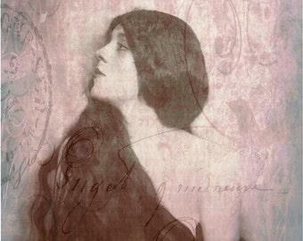 Femme Elegante, Art Deco, Art Nouveau, Edwardian, Woman, Lady, Profile, Boudoir, Sensual, Romantic, Feminine, French, Vintage Erotica