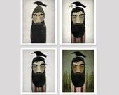 CHOOSE YOUR LUMBERJACK! Lumberjack and Crow -  Art Print by Ryan Fowler Native Vermont