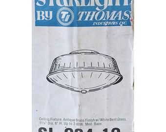 Nib THOMAS / MOE LIGHT Gold Brass Ceiling Fixture Starlight Mid Century Never Used Atomic Era Mad Men Lamp Light Gold Store Display