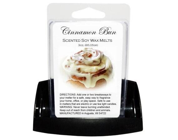 CINNAMON BUN Soy Melts - Wax Tarts - Soy Tarts - Candle Tarts - Melting Tart - Scented Tart - Tart Melt - Wax Melt - Clamshell - Dye Free