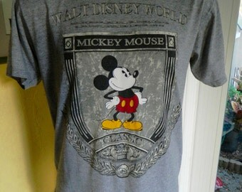 Mickey Mouse 1990s soft grey vintage tee shirt - Disney size L