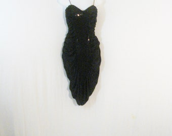 Black Bombshell Goddess Wiggle Dress Bodycon Cocktail Party Evening Trophy SM
