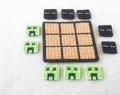 Minecraft Tic Tac Toe,  Travel Board Game,  Minecraft Enderman and Creeper Tic Tac Toe