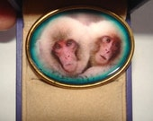 Monkey Love Brooch KL Design