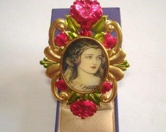 Lady  Flower Brooch KL Design