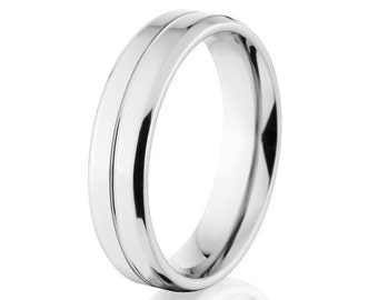 Cobalt Wedding Ring, Thin Bands, Thin Cobalt Bands: CB-5FT11G-P