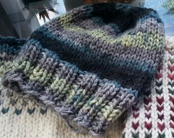 Chunky Knit Night Sky Hat