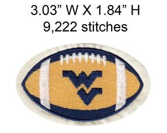 WEST VIRGINIA UNIVERSITY football, machine embroidery design