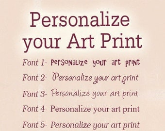 Personalize your art print, personalized art, jolinne