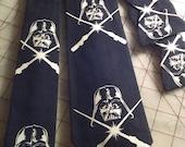 Star Wars Darth Vader Glow in the Dark Neckties in bow tie, skinny tie and standard tie styles, men's or boys sizes