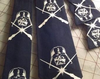 Star Wars Darth Vader Glow in the Dark Neckties in bow tie, skinny tie, and standard tie styles, kids or adult sizes