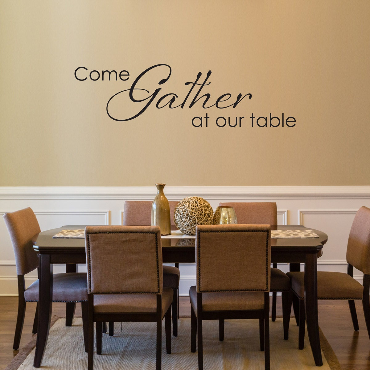 dining room decals come gather at our table wall decal