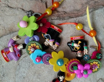 The Beatles Yellow Submarine Pepperland Blooming Color Charm Bracelet  Altered Art John Lennon Ringo Starr Paul McCartney George Harrison