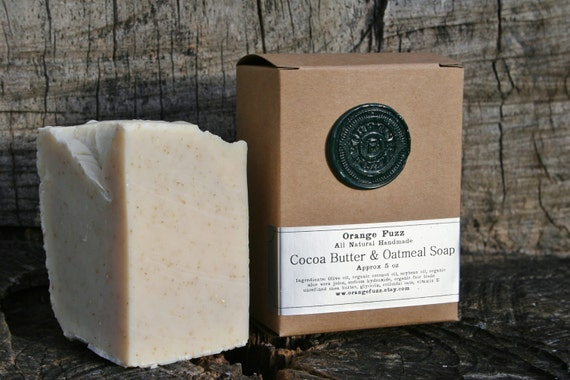 Cocoa Butter and Oatmeal Soap - Unscented