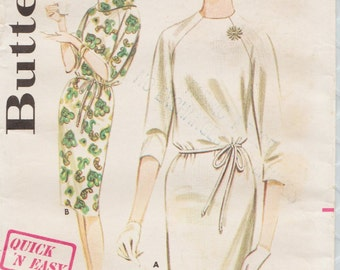 Butterick 2907 / Vintage Sewing Pattern / Raglan Sleeve Dress / Size 16 Bust 36
