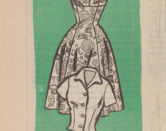 Vintage Mail Order Sewing Pattern 4554 / Dress Jumper Blouse Jacket / Size 12 Bust 32