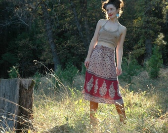 FREE SIZE... Indian Wrap Skirt... Cotton Skirt... Boho Skirt