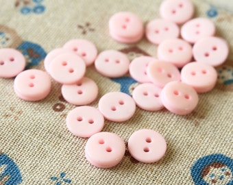 Baby Pink zakka mini resin Candy Buttons 20pc Set