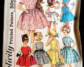 Vintage 1960's Girl's Dirndl Dress w/Variations Simplicity 4924 Sz 6 B24