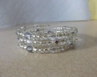 Memory wire bracelet clear