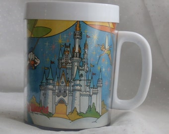 Walt Disney Productions Disney World Thermo Serve Plastic Mug