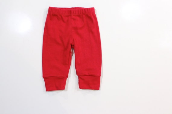 Red Baby Pants. Baby Boy Pants. Knit Leggings. Red ...
