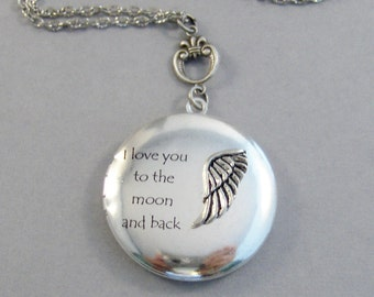 Angel Love,Angel Necklace,Angel Wing,Necklace,Antique Locket,Nature,Woodland,Love You,Guardian Angel,Angel Necklace valleygirldesigns