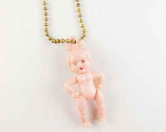 Vintage Baby Girl Key Chain