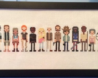 The Walking Dead: Characters - Cross Stitch Pattern