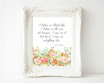 C.S. Lewis quote printable-diy instant download printable-mulitiple sizes included-confetti printable