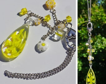Yellow Car Charm for Rear View Mirror