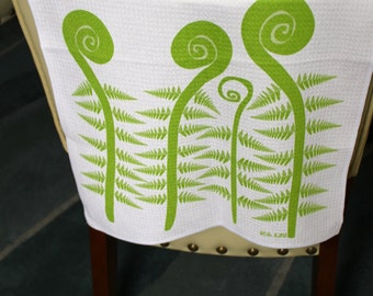 Fiddlehead Ferns Kitchen Towel