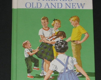 1963 Friends Old and New - 2nd grade Dick and Jane basic reader NF UNUSED