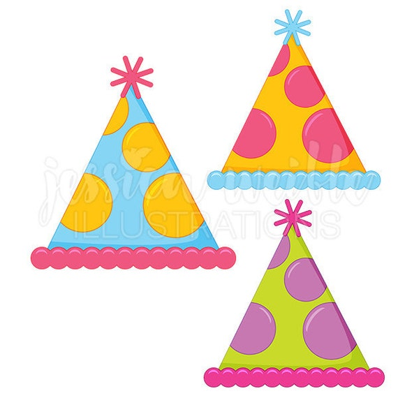 polka dot party hat cute digital clipart party hat clip art party rh catchmyparty com digital clipart bundles for cu digital clipart for commercial use