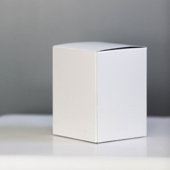 10- 4x4x4 inch White Gift Boxes | Perfect for Cupcake Boxes - Add on cupcake insert from the drop-down menu