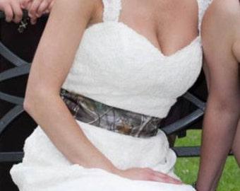 Wedding Gown- accessory sash- Custom Fabrics