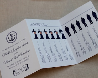 Nautical Tri-fold Wedding Program