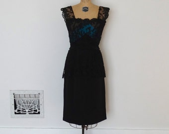 Vintage 50s Dress - 1950s Cocktail Dress - The Carrie