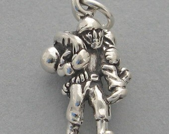 SOLIDER Carrying WOUNDED WARRIOR Military 3d Sterling Silver .925 Charm 4625